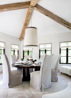 dining room - stone flooring