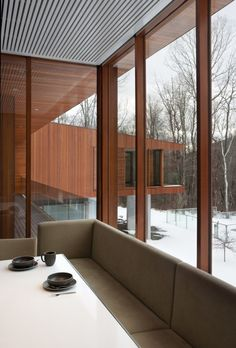 Joeb Moore + Partners Architects designed the Bridge House in the town of Kent, Connecticut.