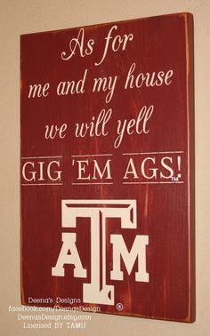 TAMU Texas Aggies Wall sign by DeenasDesign - $47.00 - https://www.facebook.com/DeenasDesign