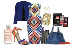 Idée de look Pagnifik - Jupe droite bleu Stella Jean | Pagnifik