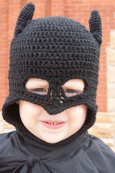 Batman Beanie/Ski Mask  HAT ONLY by ChrisCrossCraftsEtsy on Etsy, $12.00