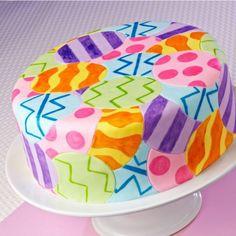 quilt design, egg hunt, easter cake, marshmallow fondant, decorating cakes, easter eggs, wilton cakes, cake designs, dessert
