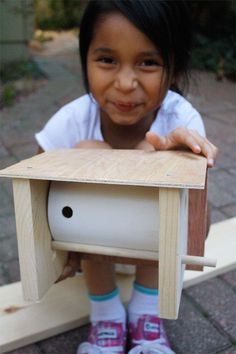 Bird house with PVC pipe.