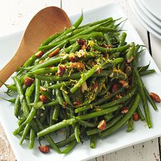 Green Beans with Almonds - make ahead recipe