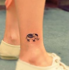 Elephant tattoo that represents my little sister Daniela