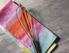 Rainbow whisk & tea towel | Life in Color