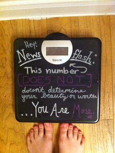 chalkboard weight scale! LOVE!!