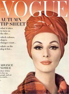 Wilhelmina Cooper, Vogue 1962 by Gene Laurents