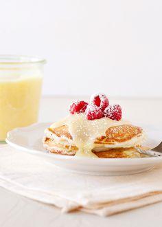 Lemon Raspberry Pancakes - Baked Bree