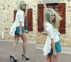 Fish Tail Top, Shorts, Charlotte Olympia Dolly Pumps