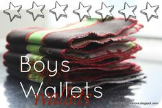 naptime creations: Wallets