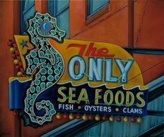 'The Only' Seafood Cafe Neon Sign: Vancouver, Canada / by Will Rafuse