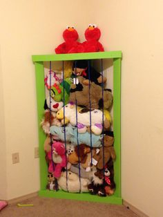 """Stuffed animal """"zoo"""" Stuffed Animal Zoo, Kid Room"""