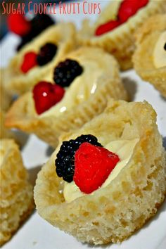 When #berries are in season, these Sugar Cookie Fruit Cups make for a ...
