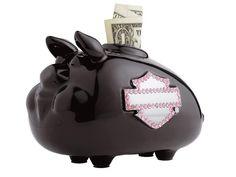 Harley-Davidson® Women's Pink Label Embellished Mini Hog Bank 99215-12VW