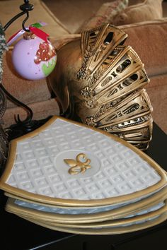 Boy Favors: Knight helmet & shield (dollartree.com)  - great as favors for a princess party - the boys can be Prince Phillip
