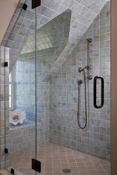 Shower In Dormer Design Ideas, Pictures, Remodel, and Decor