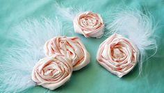 Flower hair pins! Love