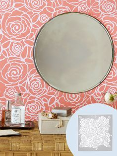 Give roses a modern makeover with this graphic stencil! Get the complete how-to....