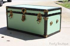 Poofy Cheeks: My Weekend Trunk Redo painted trunk