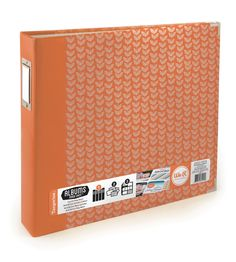 We R Memory Keepers - Albums Made Easy - 12 x 12 Three Ring Turned Edge Albums - Tangerine at Scrapbook.com $19.99