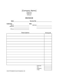 Class Invoice Template Related Keywords & Suggestions - Class ...