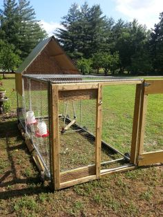 Chicken Tractor: portable chicken coop to roll around your yard