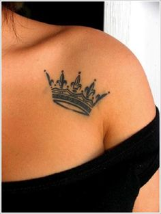 Crown Tattoo Designs (12)....... want this one on right foot with Skyla's name