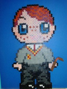 Harry Potter Ron hama perler beads by Tania E.