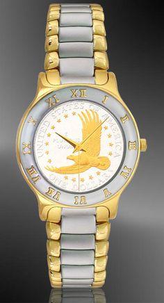 Eagle Dollar Mens Bracelet Coin Watch R323-ED2-2