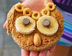 Cute owl snack idea