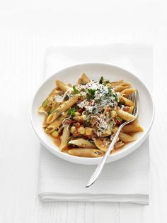 Whole-Grain Pasta with Chickpeas and Escarole from #FNMag
