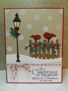 My Craft Spot: DT post by GiGi - Beautiful Christmas/Winter scene