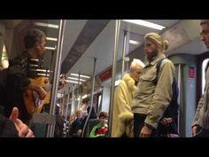 """Ave Maria"" in der Berliner S-Bahn / Busker singing ""Ave Maria"" in Berli..."