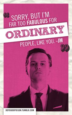 """""""Moriarty's contribution to painfully honest Sherlock valentines."""""""