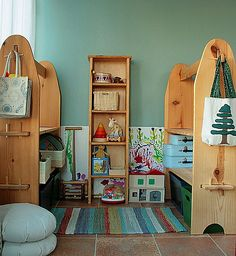 our not-so-completely-waldorf playroom by blessed boy mama, via Flickr    I am SO making these!  AD
