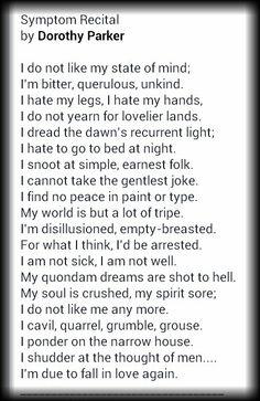 Dorothy parkers poem resume virale