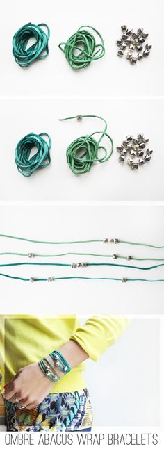 In Honor Of Design: DIY: Ombre Abacus Wrap Bracelets