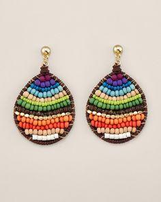 Seed beads - make like peacock feathers