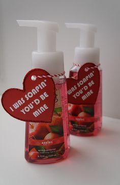 Teacher Valentine's Day Gifts.  I was soapin you'd be mine!