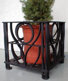 planter project, porch planter, metal weld planter