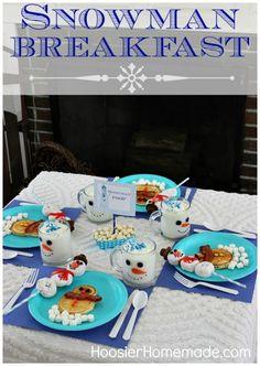 Fun snowman breakfast #Christmas #Snowman