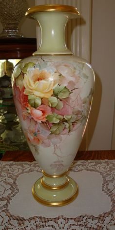 Antique American Belleek Master China Painter George Leykauf signed from theverybest on Ruby Lane