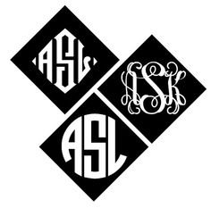 Large 8 Monogram Decal  DIY Graduation Cap by BlueTimesTwo on Etsy, $7.25