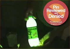 Glow in the Dark Mountain Dew - Denied!! Check out Pins Reviewed where a group of bloggers are actually putting these things to the test...so you don't have to...
