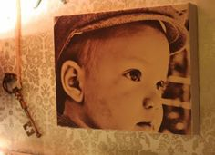 DIY your own picture canvas with tissue paper
