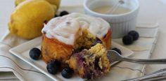 Simple Blueberry Lemon Birthday Cake by @PaleOMG #nutfree