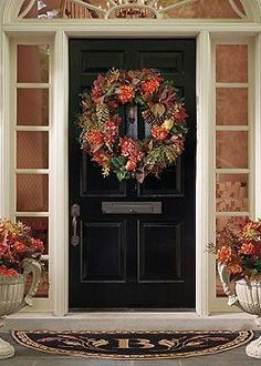 Autumn Mix Wreath is a bountiful harvest of hydrangeas, pinecones, magnolia and maple leaves accented with twigs, autumn grass and pears that graces your door and welcomes fall.