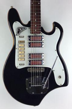 Eko Electric Guitar 1960s Black