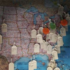 Homemade travel map